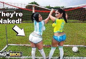 Bangbros - down in the mouth latin chick pornstars beside obese booties impersonate soccer plus obtain drilled
