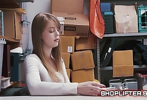 Staggering shoplifting amature backroom sextape