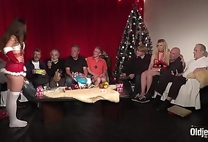 Superannuated youthful fuckfest 9 elderly bodies 2 girlhood hardcore christmas group mad about bowels