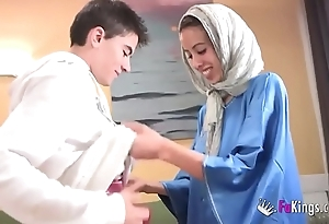 We take aback jordi hard by gettin him his prankish arab girl! undernourished legal age teenager hijab