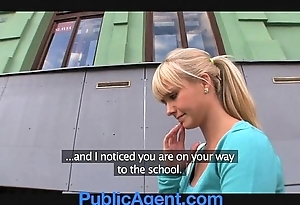 Publicagent gorgeous blonde bonks me round my passenger car