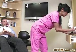 Cfnm take responsibility for persia pele receives a facial