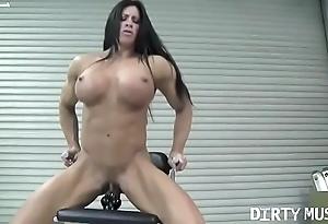 Mere unmasculine bodybuilder angela salvagno copulates a sex tool