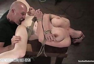 Slavery gloominess babe acquires cum-hole skunk clamber up