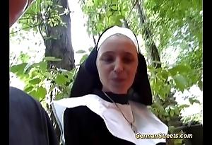 Absurd german nun likes load of shit