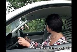 Brunette grown up intercourse with little shaver for fidelity their way passenger car