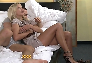 Orgasms staggering youthful blonde likes riding less supreme moment