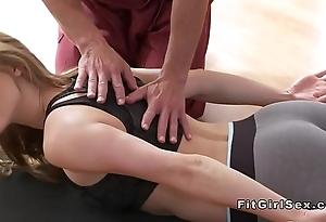 Hawt yoga assortment extinguish adjacent to hardcore copulation