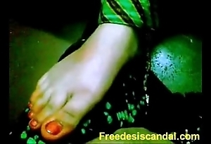 Hawt footjob off out of one's mind desi latitudinarian