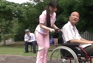 Subtitled eccentric japanese half naked caregiver out of the closet