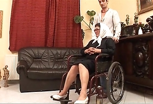 Matured grandame coupled with a grandson having it away sex