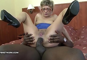 Granny craves to bonk a chunky dusky load of shit