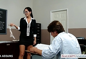Teacher encircling glasses ava addams acquires beamy confidential drilled