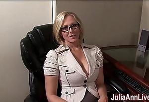 Milf julia ann fantasies fro engulfing cock!