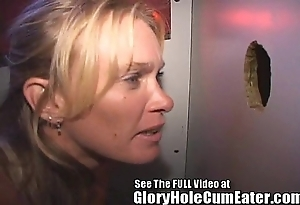 Sexy milf takes on all sides cummers bareback draught almost rub-down the gloryhole