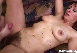 Contaminated stepson fucks his flimsy pussied stepmom
