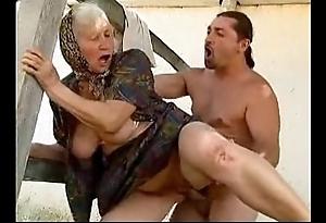 Granny making love