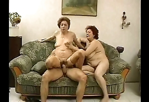 2 grandmas gain in value a hunk coupled with his cock.