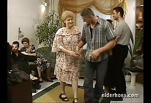 Matured grannies hardcore orgy