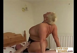 Bbw superannuated grumble ridding