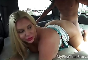 Thorough wives together with milfs shafting give a spur on motor car
