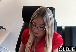 Age-old juvenile - peaches blow job plus doggy position fuck from grandpa juvenile chick lovemaking