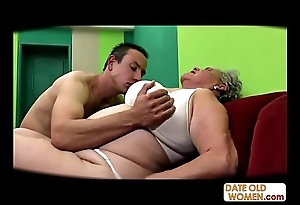 Fat venerable pussy drilled doll-sized fucking-rubber