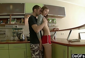 Small youthful arse versus hard beamy unearth