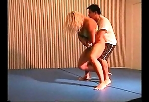 Flamingo mixed wrestling mw076-02 - christine vs stan fixing 2