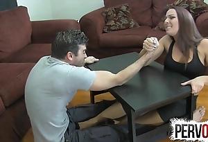 Arm wrestling foundation venture ballbusting femdom handjob